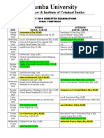 FEB. 2016 Exam Time Table