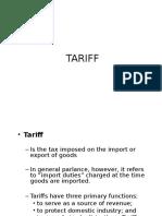 5. Tariff Terminology