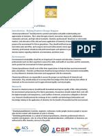 Global Chemists Code of Ethics Draft
