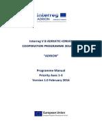 Programme Manual