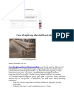 Cara Menghitung Bangunan Baja