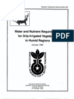 Water and Nutrient Requirements for Drip-irrigated Vegetables