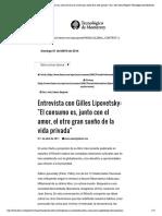 Entrevista con Gilles Lipovetsky- -El c...enz Negrete - Tecnológico de Monterrey