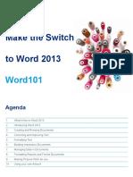 Microsoft Training Material - Word101