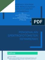 Identifikasi Senyawa Organik Menggunakan Spektrofotometer Inframerah