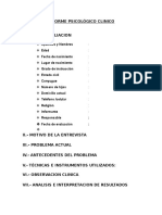 INFORME PSICOLÓGICO CLINICO