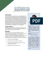 Removing Duplicates Using Informatica Powercenter