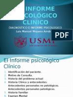 El Informe Psicologico Clinico