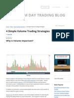 4 Simple Volume Trading Strategies