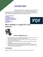 Blow molding design guidlines