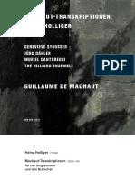 Machaut and Holliger MachautTranskriptionen