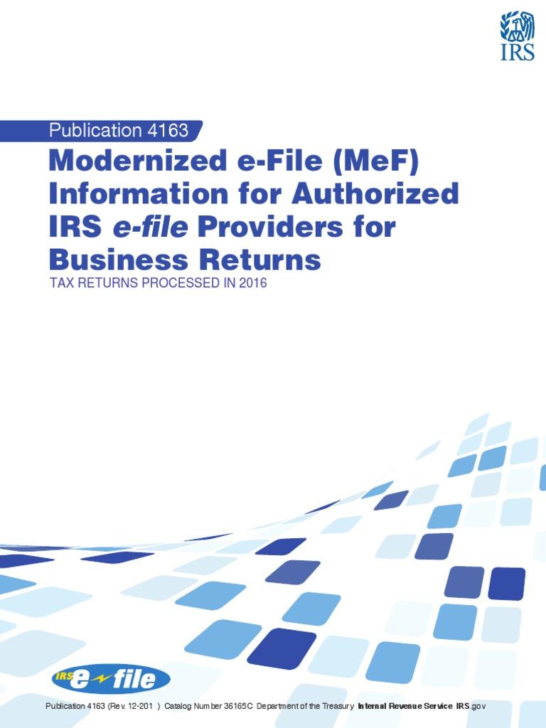 Modernized e-File (MeF) | Internal Revenue Service | Irs Tax Forms