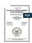 Advertisement Effectiveness Study {by GYANDEEP}