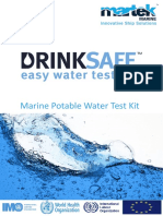 water testing method for marine applications