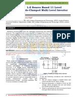 L-Z Source Based 11 Level Diode-Clamped Multi Level Inverter