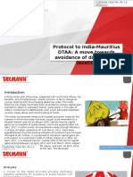 Protocol to India-Mauritius DTAA