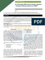 Secure & Energy Efficient Scheme against Denial-of-Sleep Attack in WSN