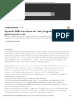 Aprenda PHP e Torne-se Um Bom Programador Sem Gastar Quase Nada