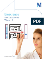 Bioscience Price List 2014-15 - Volume I