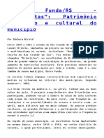 """Barra Funda_RS - """"Brizoletas""""_ Patrimônio Histórico e Cultural Do Município"""