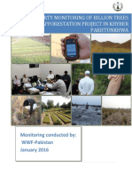 Billion Trees Tsunami Afforestation Project in Khyber Pakhtunkhwa – WWF Monitoring Report 2015