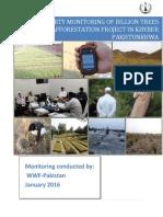 Billion Trees Tsunami Afforestation Project in Khyber Pakhtunkhwa – WWF Monitoring Report 2015
