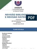 Revisão Bibliográfica e Revisão Sistemática