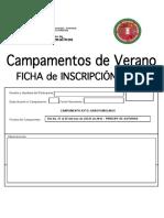 Inscripción Campamentos Externos 2016