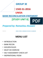 FAC1502 Bank Reconcilliation Notes