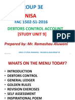 FAC1502 Debtors Control Notes