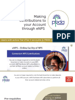 Making Contributions to your NPS Account via eNPS