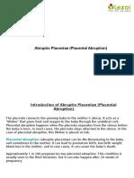 Abruptio Placentae (Placental Abruption)