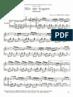 Não Me Toques - Versão para Piano Solo - Zequinha de Abreu