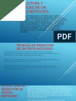 Estructura y Técnicas de Un Texto Noticioso