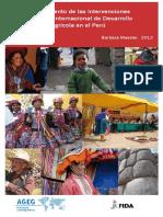 Escalamiento de Las Intervenciones Del Fida en El Peru