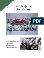 Ensamblaje de Automóviles Mecanismos II