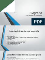 Características de La Biografía