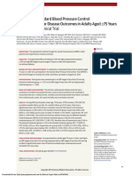 Intensive vs Standard Blood Pressure Control and Cardiovascular Disease Outcomes in Adults Aged 75 Years