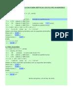 Programa Dimensionamento Da Fossa e Filtro