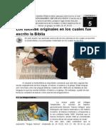 05-Los Idiomas Originales en Los Cuales Fue Escrito La Biblia