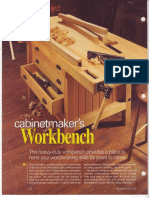 Cabinetmaker's Workbench Plan