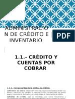 Administración de Crédito e Inventario