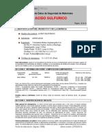 MSDS Ac Sulfurico