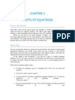 Root of equations
