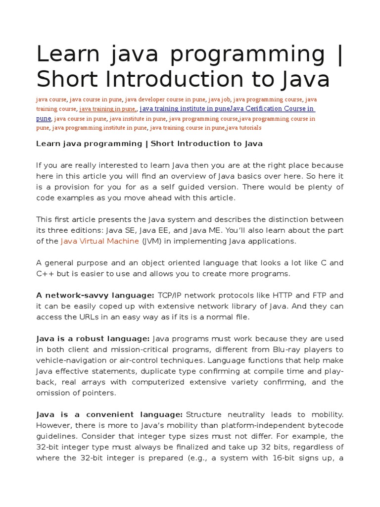 Learn java programming short introduction to java java learn java programming short introduction to java java programming language computing platforms baditri Images
