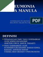 Pneumonia Pada Manula