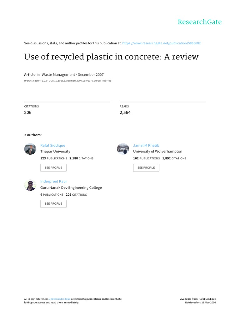 waste materials and by products in concrete siddique rafat