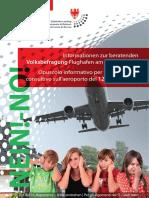 Flughafen-Volksbefragung - Informationsbroschüre des Landtages - der Contra-Teil