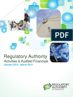 Regulatory Authority Annual Report 2013-14