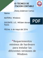 Requerimiento Para Instalar Windows
